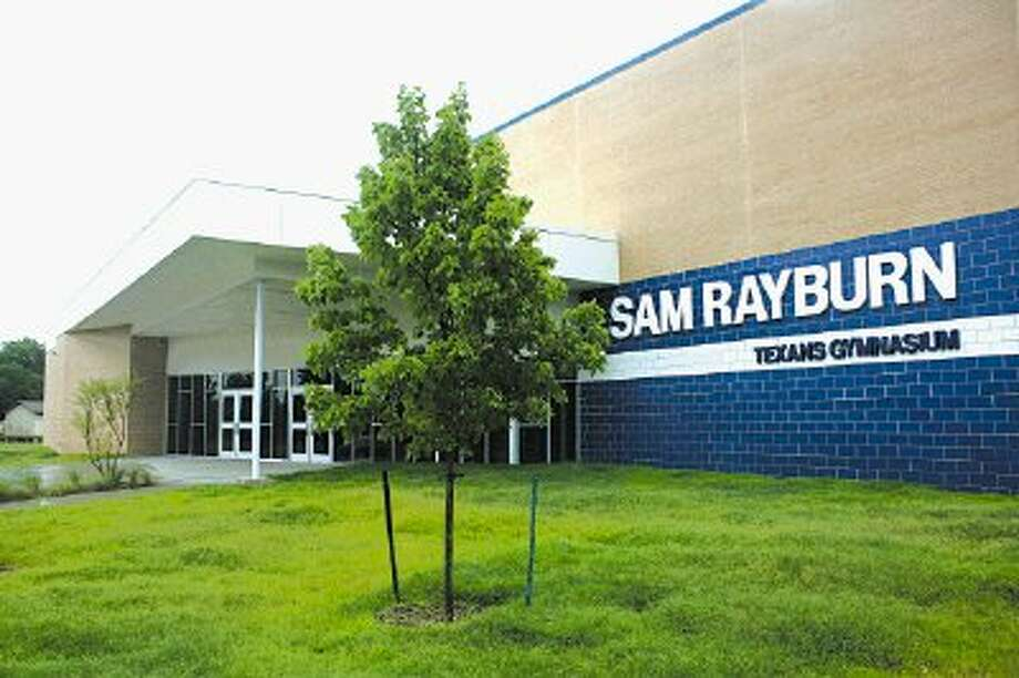 It's time to cut the ribbon on Sam Rayburn High School's brand-new gymnasium as it sits poised for the arrival of games when the new school year starts.