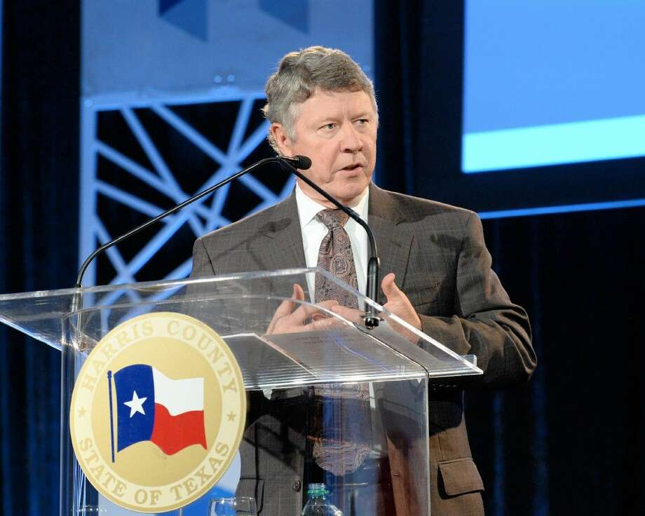 Harris County Judge Ed Emmett delivers his annual State of the County address at NRG Center on Tuesday, Feb. 2. Emmett confronted county challenges and called county government a success amidst national unrest. Photo: Craig Moseley