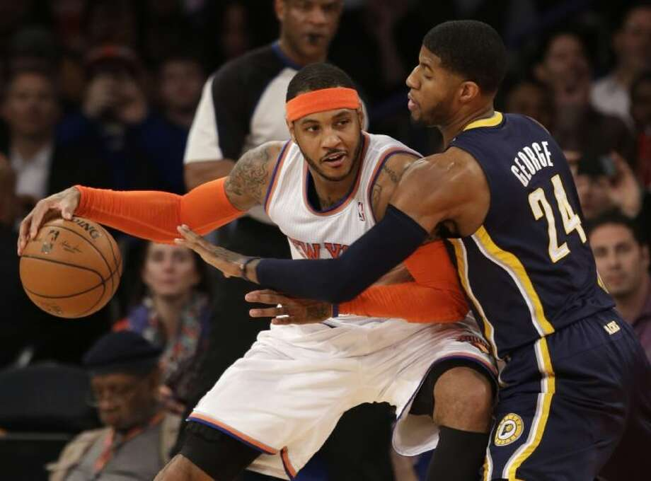 Carmelo Anthony continued his free agency tour on Wednesday with a trip to Houston.