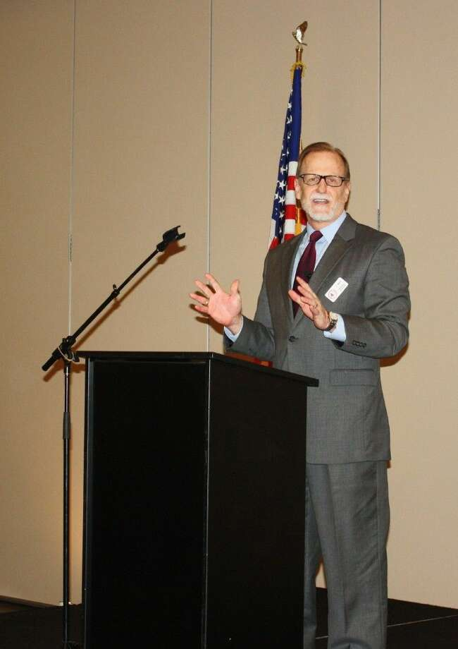 GCCOC Board Chairman Jay Rice gave the State of the Chamber address during the Feb. 4 monthly membership luncheon, which was held at the Cleveland Civic Center. Photo: Stephanie Buckner