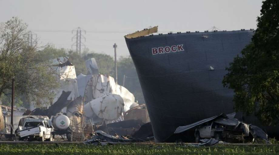 This April 18, 2013 file photo shows mangled debris of a fertilizer plant after an explosion leveled the plant in West.