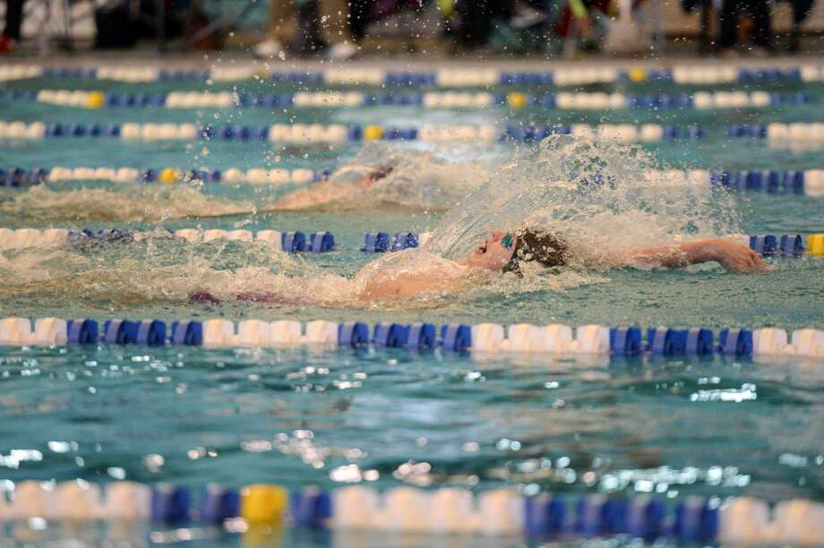 Kingwood Park's Mario Foltz competes in the 200-yard individual medley during the UIL Region 6-5A Swimming Championships, Feb. 6 at Don Cook Natatorium in Sugar Land. Foltz won the event and the Panthers won the team championship. Photo: Craig Moseley