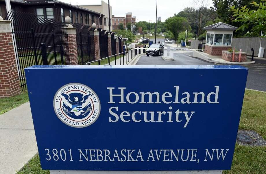FILE - In this June 5, 2015, file photo, a gate leading to the Homeland Security Department headquarters in northwest Washington.