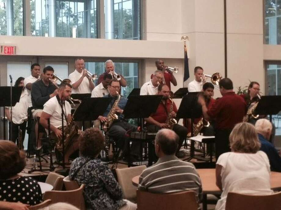 Patriotic music garnered patriotic spirit at Lone Star College-Kingwood's campus for an afternoon of music played by the Kingwood Big Band June 28.