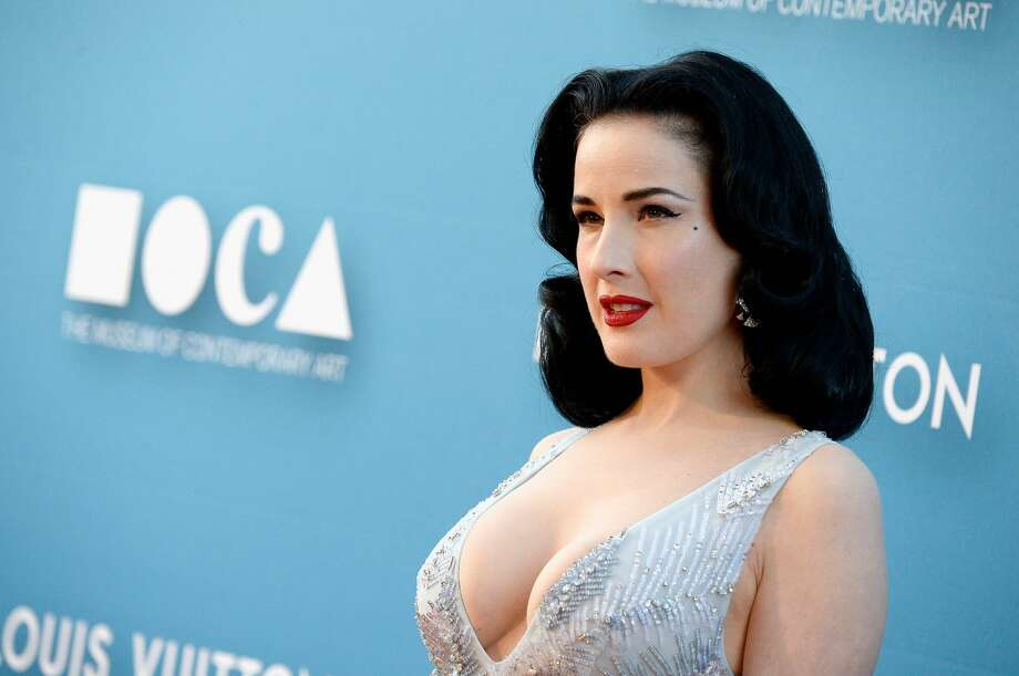 Dita Von Teese attends the 2015 MOCA Gala presented by Louis Vuitton at The Geffen Contemporary at MOCA on May 30, 2015 in Los Angeles, California. Photo: Frazer Harrison/Getty Images