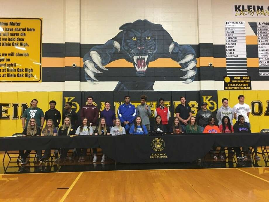 Klein Oak student-athletes sign their National Letters of Intent on National Signing Day Feb. 3, 2016 Photo: Klein ISD Communications
