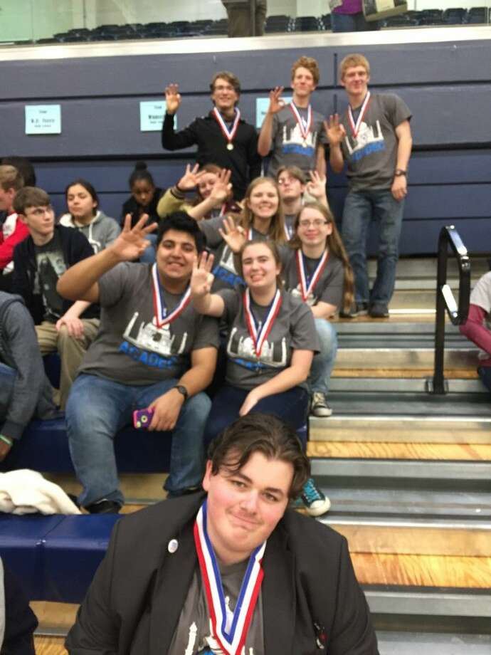 Magnolia West AcaDec team advancing to state. Photo: Submitted