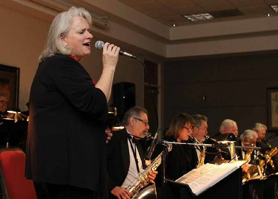 Singer Cindy Shaffner performs during the Evening of Big Band Music on February 6.