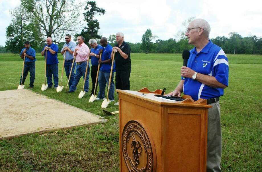 Bob Parker, the superintendent of Hardin ISD, has announced he is retiring. In May, he presided over the groundbreaking for the district's new elementary campus. Photo: Vanesa Brashier