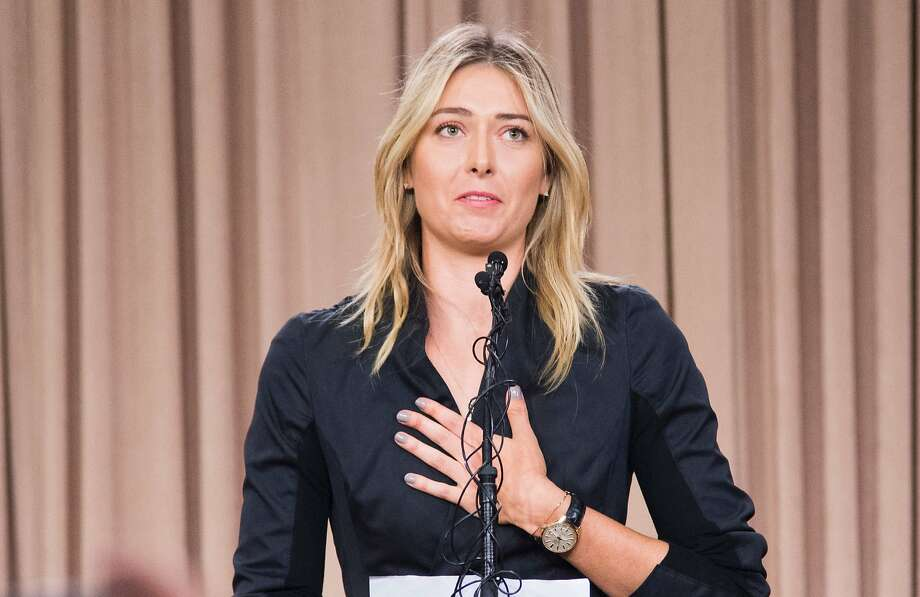 Maria Sharapova's ban from tennis tourneys came after she tested positive for meldonium. Photo: ROBYN BECK, AFP/Getty Images