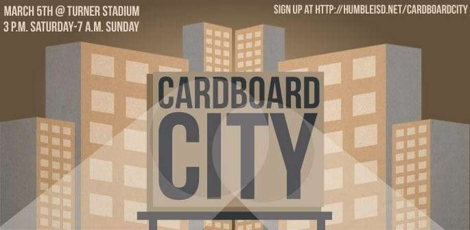 A Cardboard City will be built by Humble Independent School District students on March 5-6 at Turner Stadium to serve as a symbol of the housing insecurity faced by Humble area families who have fallen on hard times.
