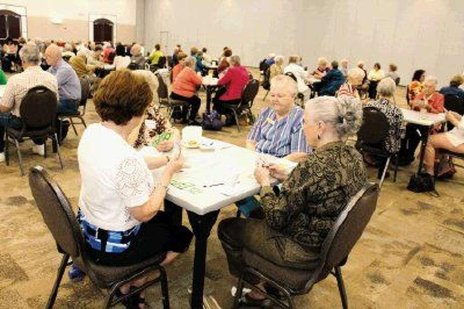 Seniors enjoy bridge at Humble Civic Center.