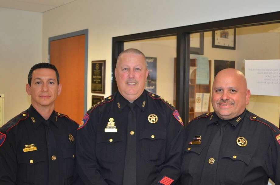 From left, Lieutenant Oscar Muniz, Constable Mark Herman and Lieutenant JJ Vasquez.