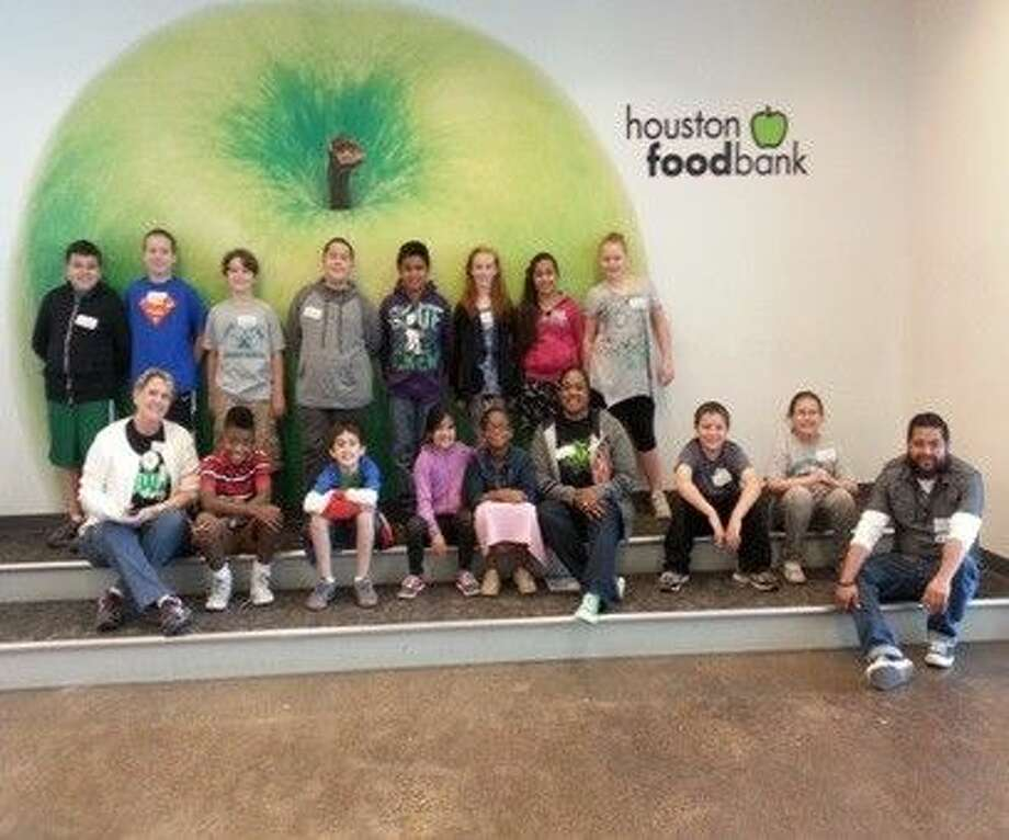 Oaks Elementary third through fifth grade Gifted and Talented students and fifth grade Student Council recently volunteered at the Houston Food Bank.