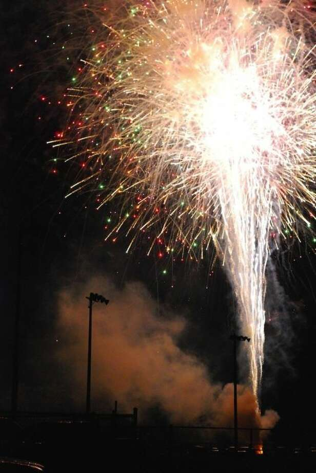 Fireworks exploded over the ballfields in Liberty's municipal park as the City of Liberty got its usual jump on Independence Day, celebrating it on July 3.