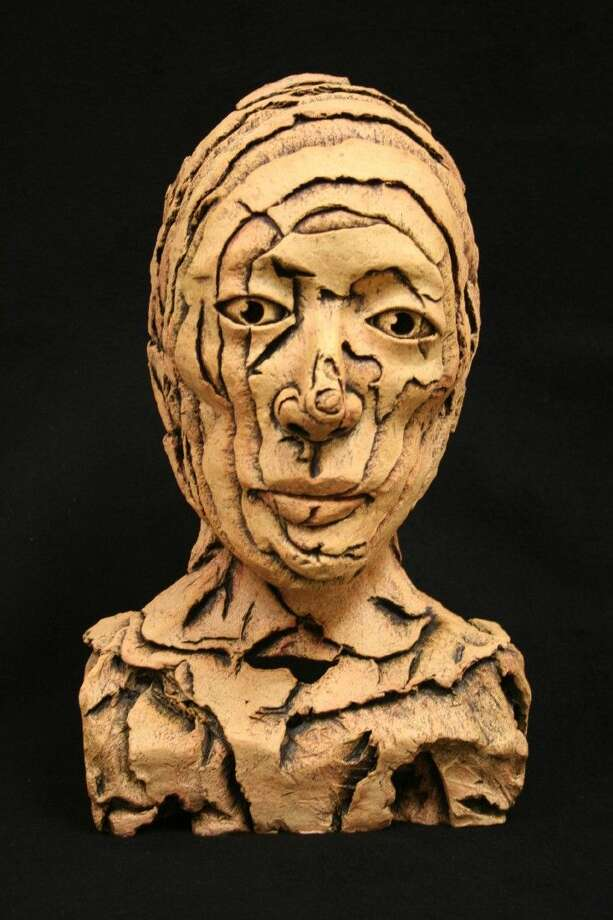 """Clear Creek High School Senior Madeline Castillo has been nominated for a national American Vision Award for her sculpture entitled """"Topographic Bust""""."""