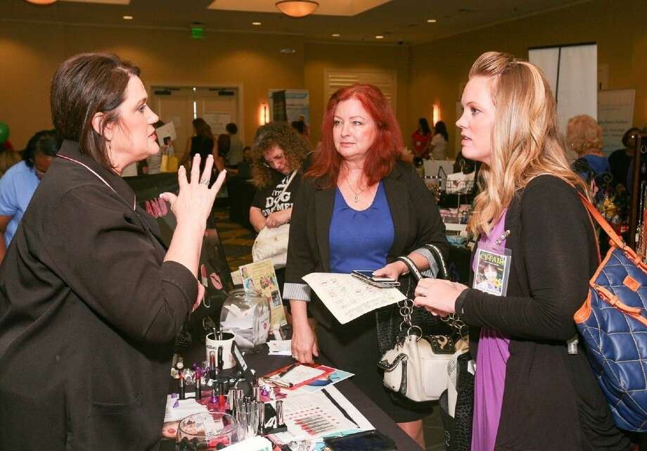 Mary Kay Sales Director, Debbie Berry educates guests on skin care regimen for the Houston summer weather. Photo: Submitted Photo