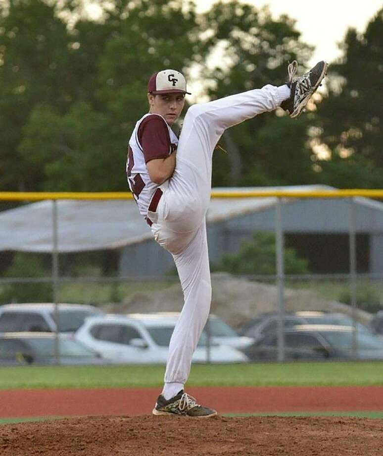 Cy-Fair High School senior left-handed pitcher Brandon Lewis was named the All-District 17-6A Most Valuable Player. (Photo courtesy Kim Lewis)