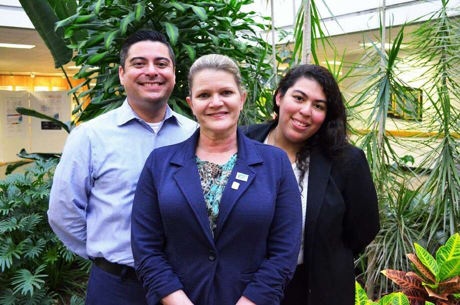 University of Houston-Clear Lake's Alumni Association Executive Council announced the new officers for the 2015-2016 academic year during their May meeting. Pictured (l to r) are AAEC Vice Chair Patrick Cardenas; AAEC Chair Tracey McKinley and AAEC Communications Officer Carla Bradley.