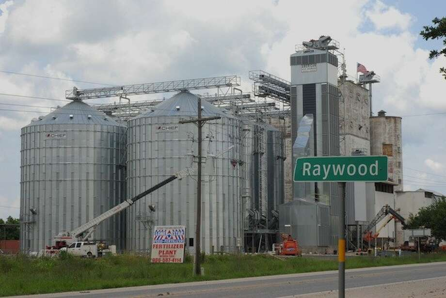 American Rice Growers' new construction in Raywood has gone up pretty quickly. This photo was taken July 4, 2014. Photo: CASEY STINNETT