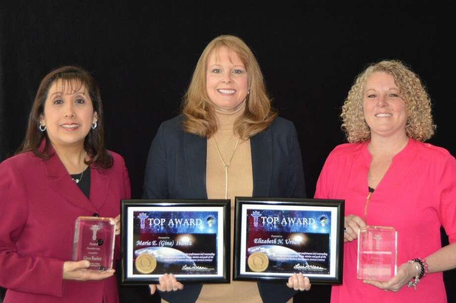 Pictured from L to R: (Gina Ibanez, TOP Award Recipient, Lisa McCann, FBMS Program Manager and Beth Urban, TOP Award Recipient).