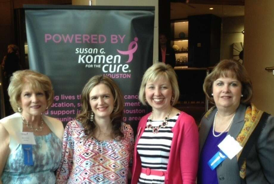 The Rose Board Chair Myrleen Knott; Ginny Thompson Kirklin, Mission Director of G. Komen Houston®; Shannon Lecoq, CDO of The Rose; and Bernice Joseph, COO of The Rose attended this week's 2014 Impact Awards Luncheon.