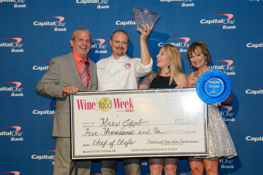 Kris Jakob, executive chef of Culinary Institute LeNôtre, took top honors as the 2015 Waterford Crystal Chef of Chefs winning a $5,000 cash and prize package and the coveted Waterford Crystal Trophy. Photo: Steven David