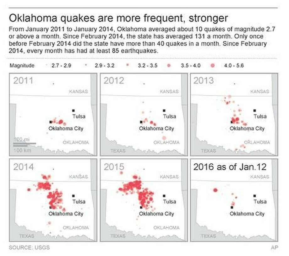 5.1 magnitude earthquake among several temblors in Oklahoma