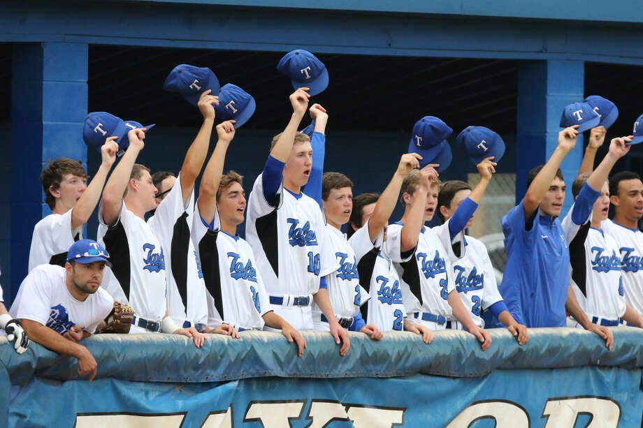 Taylor's dugout cheers against Bellaire during Game 1 of the Bi-District playoffs May 7 at Cerny Field in Katy. To view or purchase this photo and others like it, go to HCNPics.com. Photo: HCN File Photo