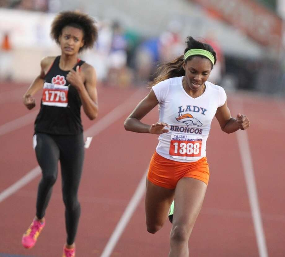 Bush's Jarra Owens won the bronze medal in the Class 5A girls 400-meter dash May 10 at the UIL State Track & Field Championships at Mike Myers Stadium in Austin. Visit HCNPics.com for more photos. Photo: Alan Warren / HCN