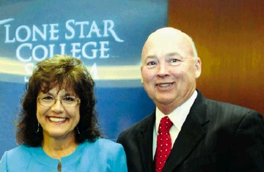 Lone Star College System names Penny Westerfeld as interim president of LSC-North Harris replacing Dr. Steve Head (pictured right) who becomes LSCS chancellor Aug. 1.