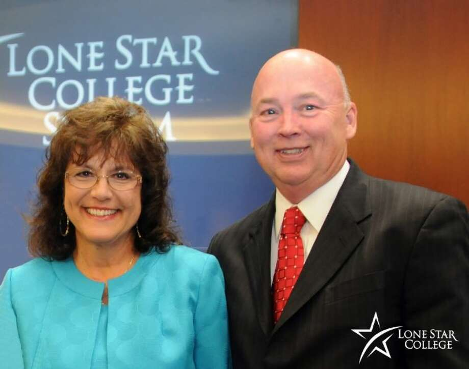 Lone Star College System names Penny Westerfeld as interim president of LSC-North Harris replacing Dr. Head (pictured right) who becomes LSCS chancellor Aug. 1. Photo: Submitted