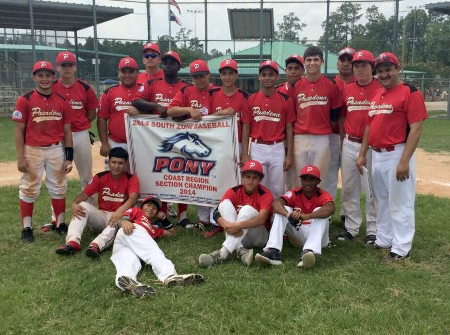 The city's Pony 14-year-old All-Stars are one step closer to playing at the Pony World Series in Washington, Pa. after capturing the sectional crown in Conroe Sunday afternoon. Timely hitting to go with stolen bases and good pitching led to the title. Photo: Courtesy Photo