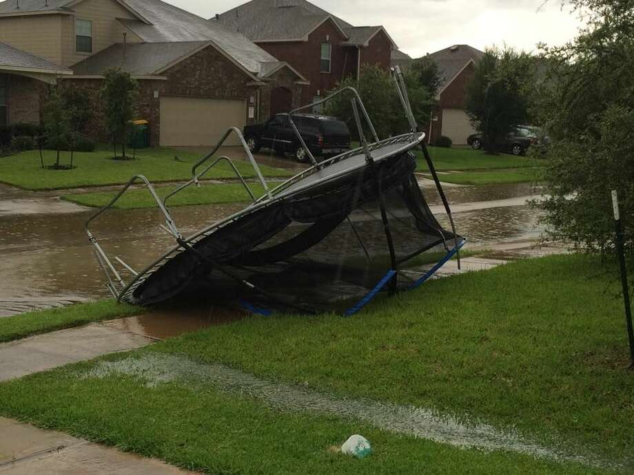 A storm brought power outages and heavy winds to areas across southern Montgomery County and northern Harris County. Photo: Submitted Photo