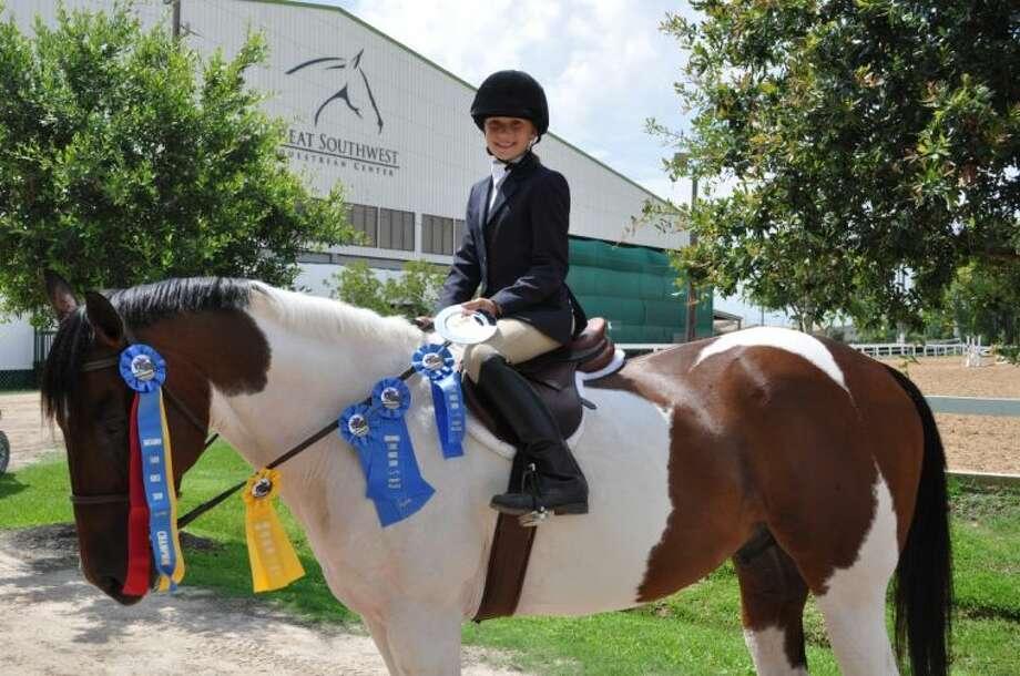 Emma Poirot and her award-winning horse