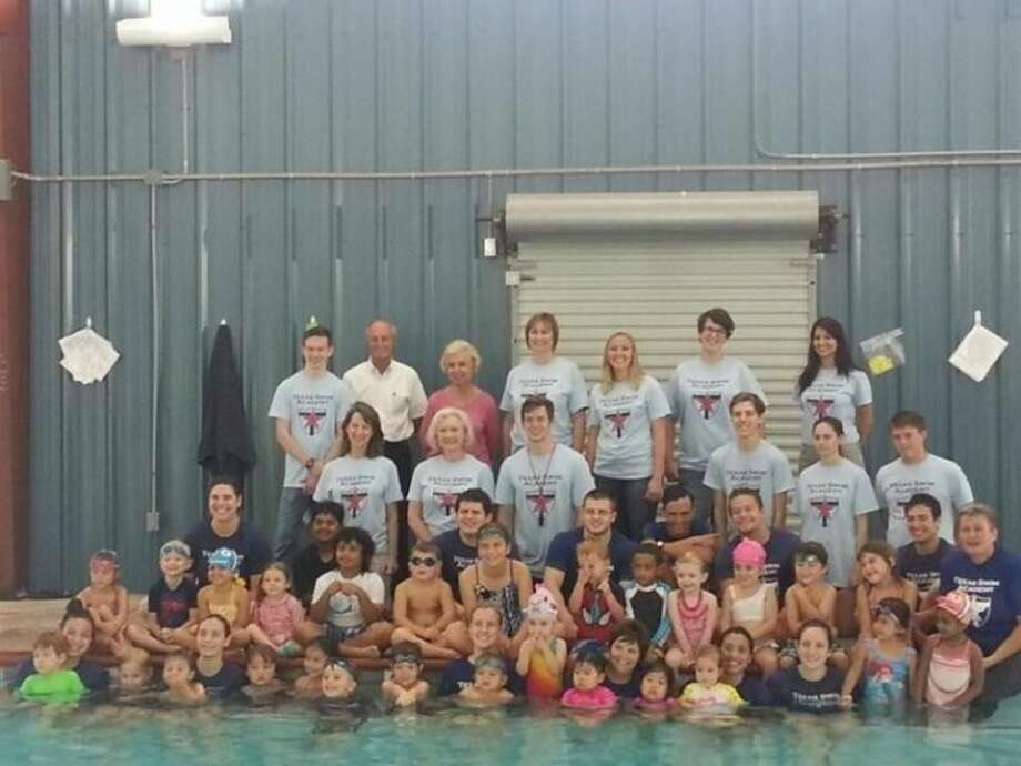 The Texas Swim Academy participated in the world's largest swimming lesson on June 20. More than 40,000 kids were registered to participate this year.