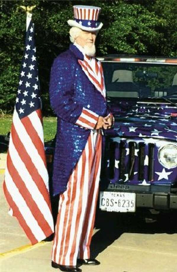 """Uncle Sam"" as portrayed by Kingwood resident John Wistar Evans."