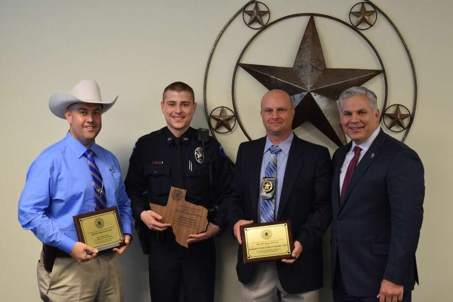 Brett Ligon, the District Attorney, presented awards for DWI Officer of the Year to Daniel Markham - Conroe Police Department, DWI Agency of the Year to the Montgomery County Precinct 4 Constable's Office and the Public Service Award to DPS Sergeant Derek Leitner.