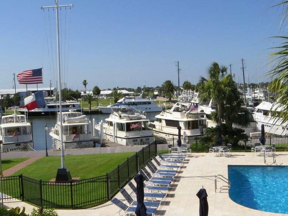 Hatteras yachts at Lakewood Yacht Club.