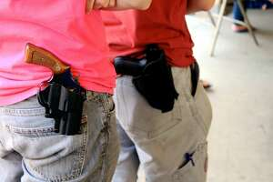"""""""Open carry"""" was the topic addressed during the monthly Kingwood PIP meeting at Kingwood Church of Christ on Tuesday, Feb. 16."""