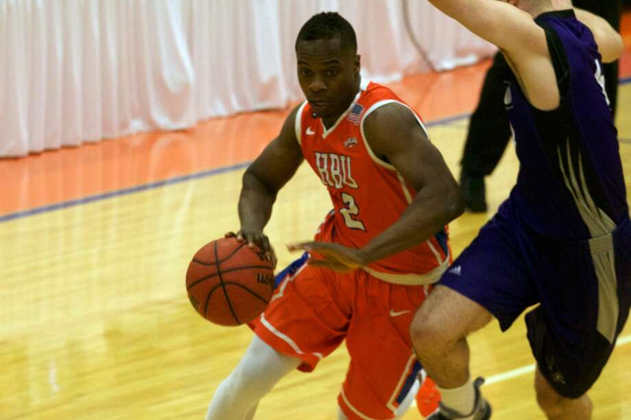 Anthony Odunsi and Houston Baptist University defeated Abilene Christian 73-71 to improve to 16-11 overall, 10-4 in Southland Conference play. The Huskies host Incarnate Word on Monday. Photo: HBU Athletic Media Relations