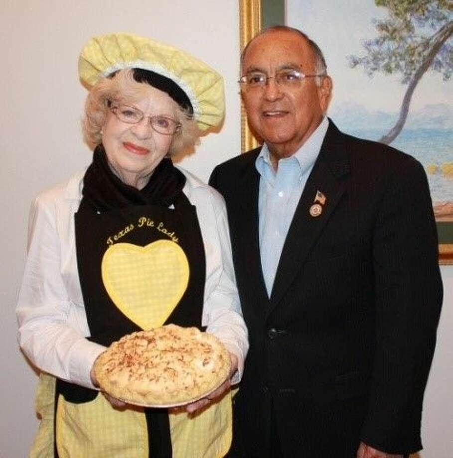 "Helen ""The Texas Pie Lady"" Smith, with BAHS Mane Event Gala committee member Pete Alfaro."
