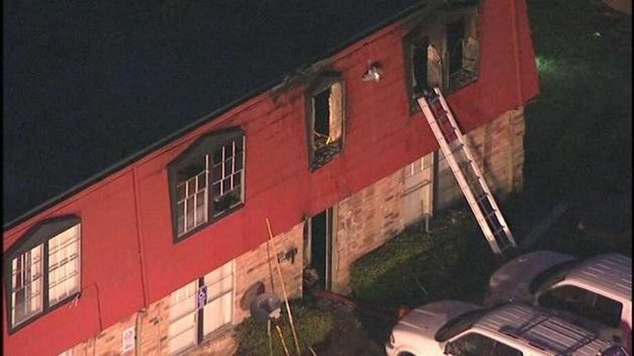 A fire broke out at the Maple Trail Apartments at around 4 a.m. Friday. The complex is located at 2001 Burke Road in Pasadena. Photo courtesy ABC13.