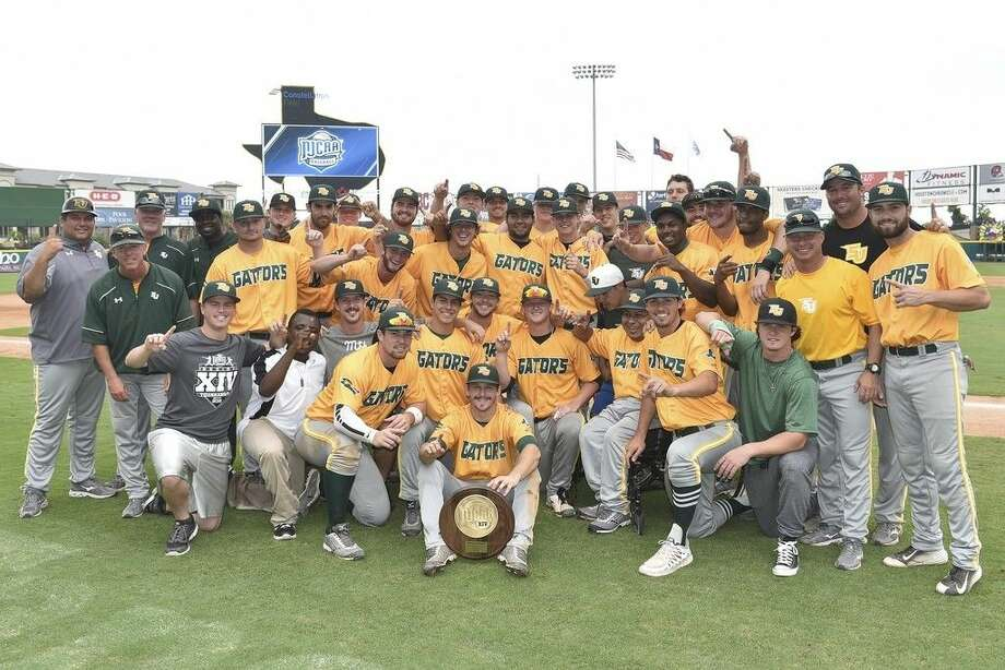 The San Jacinto College baseball team celebrated the 2015 Region XIV championship and 23rd trip to the National Junior College Athletic Association World Series. A school-record 16 players will transfer to four-year colleges or universities. Photo credit: Rob Vanya, San Jacinto College marketing, public relations, and government affairs department.