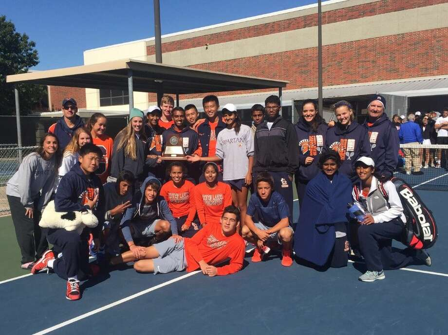 The Seven Lakes tennis team has its sights set on repeating as Region 3-6A champions. But first the Spartans must get past the talented Katy ISD district tournament. Photo: Submitted Photo