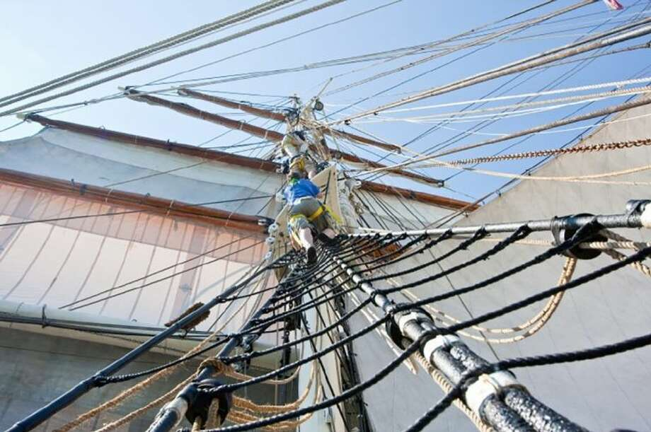 Galveston Historical Foundation's Texas Seaport Museum is seeking hardy volunteers to learn the ropes on board the 1877 iron barque ELISSA and help maintain the National Historic Landmark tall ship. Photo: Galveston Historical Foundation.