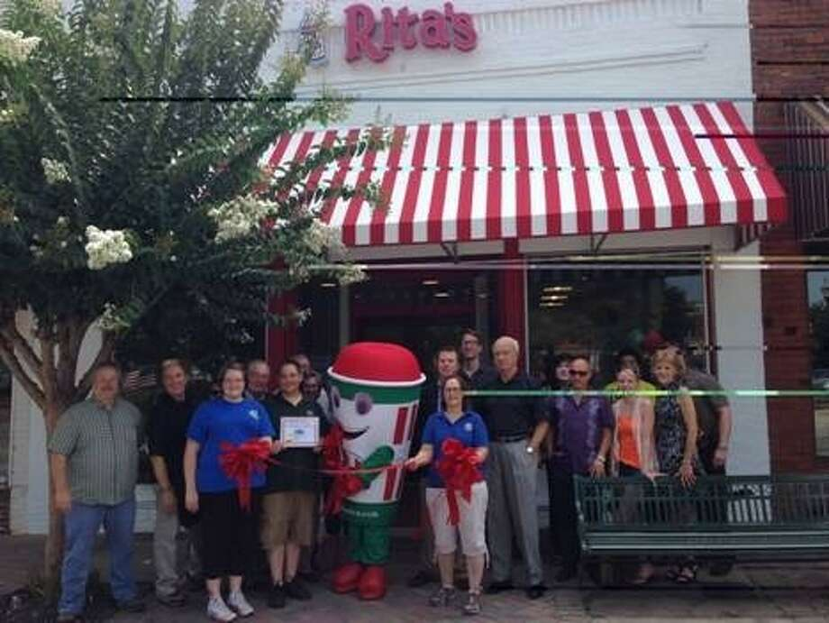 The ribbon-cutting ceremony for Rita's Italian Ice in Sugar Land. Photo: Submitted Photo