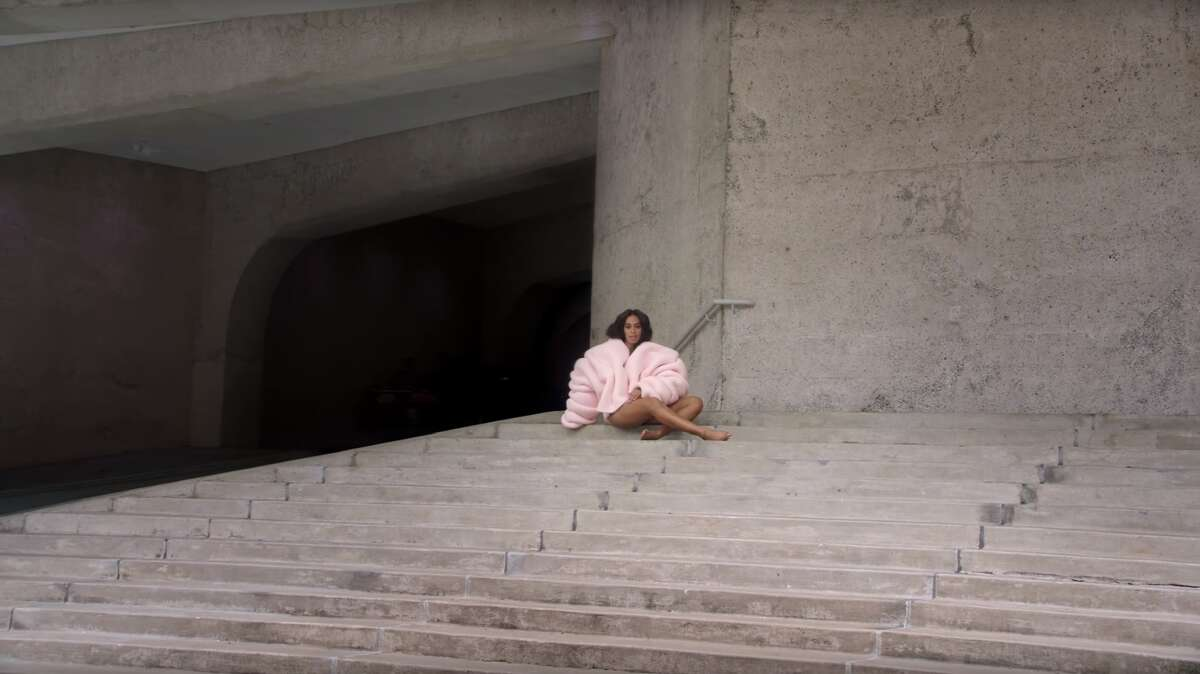 Solange shot parts of the video for 'Cranes in the Sky' at the Alley Theatre.