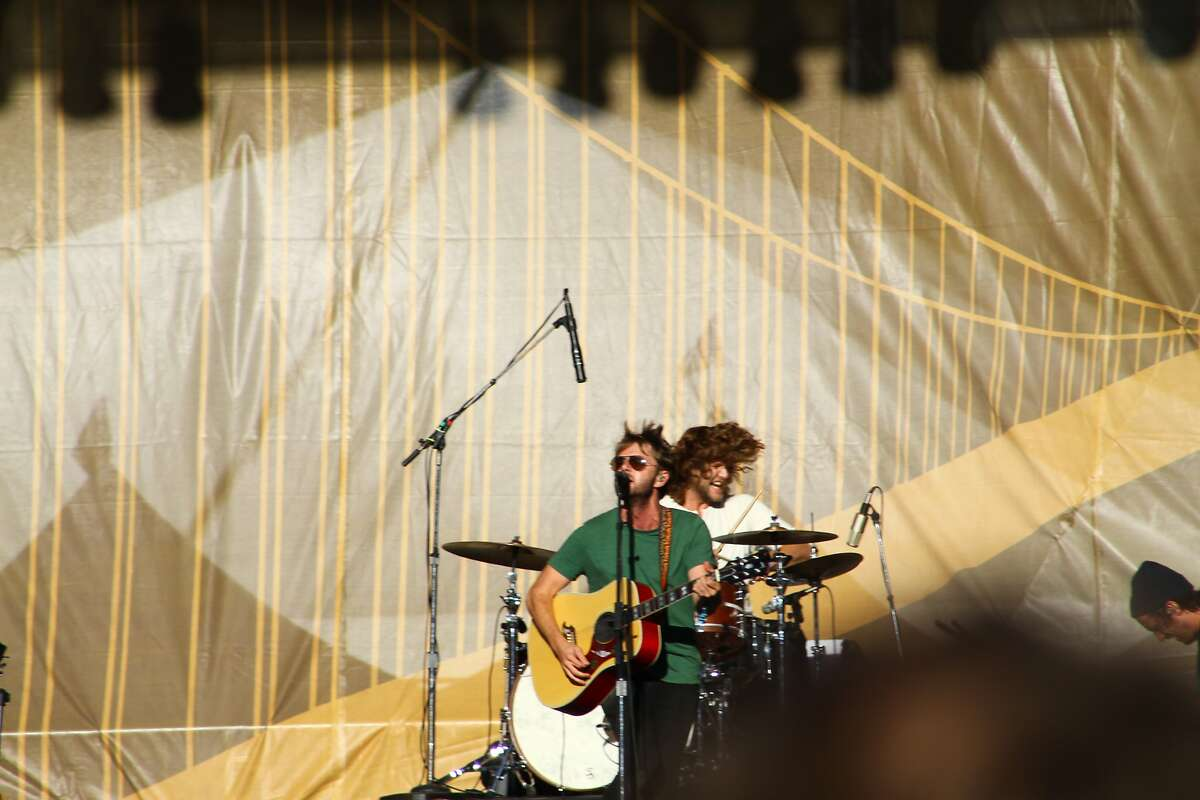The Head and the Heart perform at the second day of Hardly Strictly Bluegrass in Golden Gate Park in San Francisco, CA on October 6, 2012.
