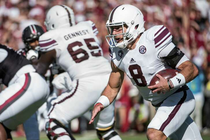 Texas A&M quarterback Trevor Knight carries the ball against South Carolina during the first half on Oct. 1, 2016, in Columbia, S.C.